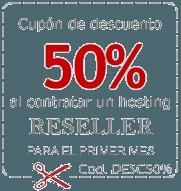 Descuento del 50% en planes de hosting reseller